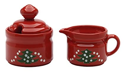 Waechtersbach Christmas Tree Sugar and Creamer  sc 1 st  Amazon.com : waechtersbach christmas tree dinnerware - pezcame.com
