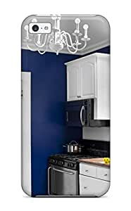 New Cute Funny Deep Blue Walls And Crisp White Cabinets And Stainless Steel Appliances Case Cover/ Iphone 5c Case Cover