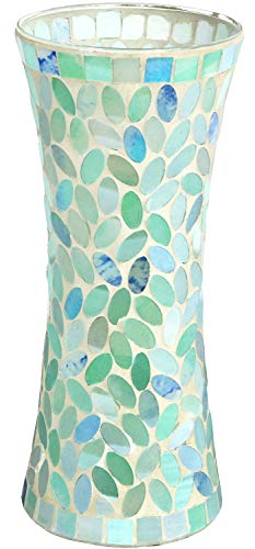 Galashield Ceramic Mosaic Glass Vase for Flowers 11.8