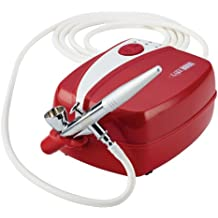 Cake Boss 50660 Decorating Tools Air Brush Kit, 7 Piece, Red
