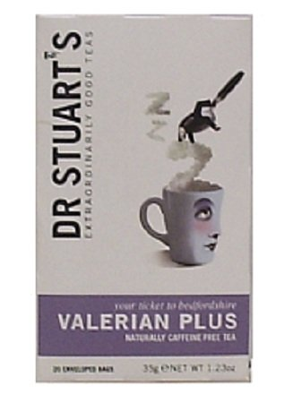 Dr. Stuart's Extraordinarily Good Teas Valerian Plus Tea, 15 Count (Pack of 6)