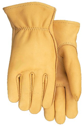 American Made Genuine Deerskin Buckskin Leather Work Gloves , 850, Size: Medium