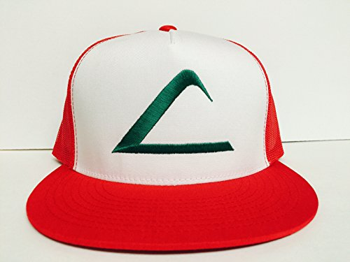 Pokemon Ash Ketchum Cartoon Trucker Mesh Snapback Hat ()