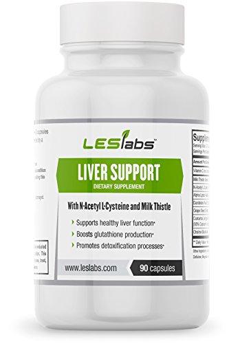# 1 La santé du foie, de désintoxication et de soutien Enzyme Supplément par LES Labs (90 Vegetarian Capsules avec de l'extrait de chardon-Marie, N-acétyl-L-cystéine et l'acide alpha lipoïque) - 100% Résultats optimales Garantie