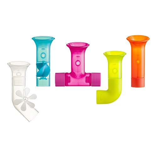 Boon Building Bath Pipes Toy Set, Set of 5 (1 Building Floor)