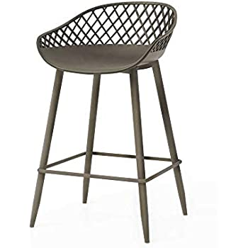 Amazon Com Dar Camber Counter Stool Set Of 2 Warm Gray