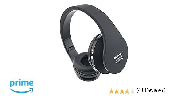 Cascos bluetooth inalámbricos, Hisonic auriculares inalámbrica Bluetooth de diadema Auricular Deporte plegable con Micrófono y Almohadillias de ...