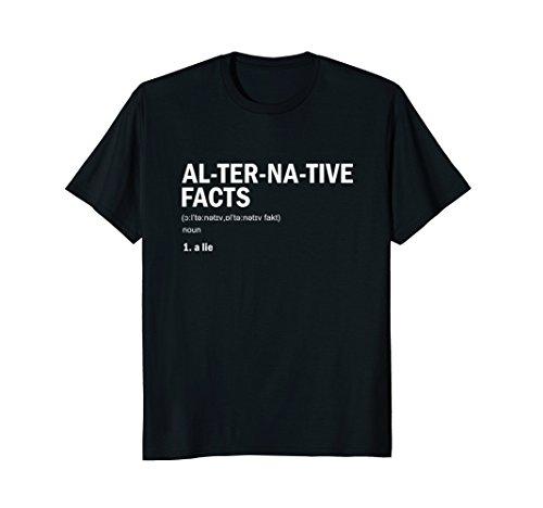 Mens Alternative Facts Definition! Political Parody T-Shirt XL Black