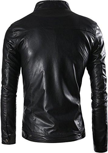 Moda Uomo Design Cappotti Uomini Cappotto Capispalla Giacca Inverno Tendenza Sottile Di Pelle Jeansian Black 9309 xqXwTvRtv