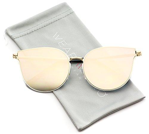 WearMe Pro - Elegant Fashion Designer Inspired Women Mirrored Cat Eye - Glasses Trending