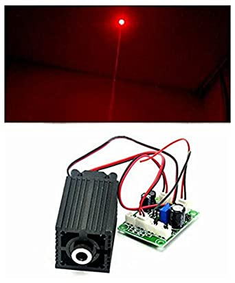 2000mw High Power 450nm 2W Blue Dot Laser Module Cutting //Burning Matches 12V