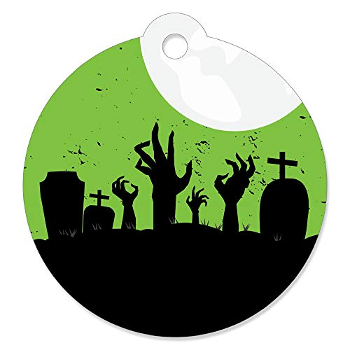 Zombie Zone - Halloween or Birthday Zombie Crawl Party Favor Gift Tags (Set of 20) -
