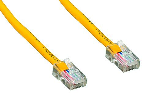(Cablelera 50' Category 5e UTP Network Patch Cable, Non-Booted Assembly, Yellow Color (ZNWN4460-50))
