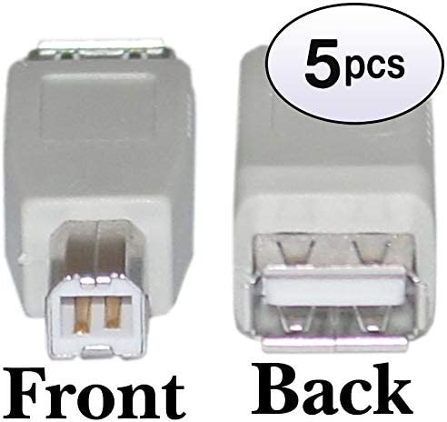 GOWOS USB A to B Adapter Type A Female to Type B Male 5 Pack