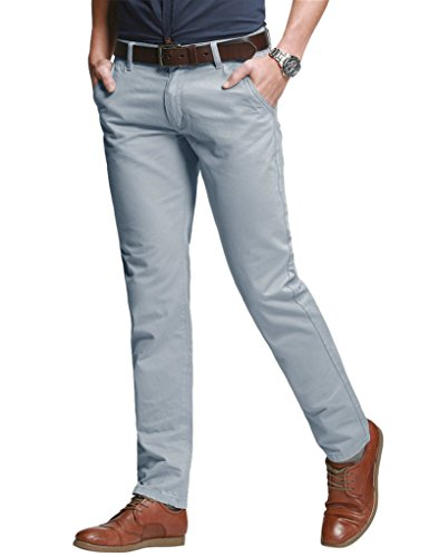 Match Men's Slim Tapered Stretchy Casual Pant (40W x 31L, 8060 Silver Gray)