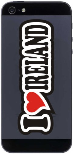 I Love Heart Decal Sticker mobile phone skin 70 mm I LOVE IRELAND
