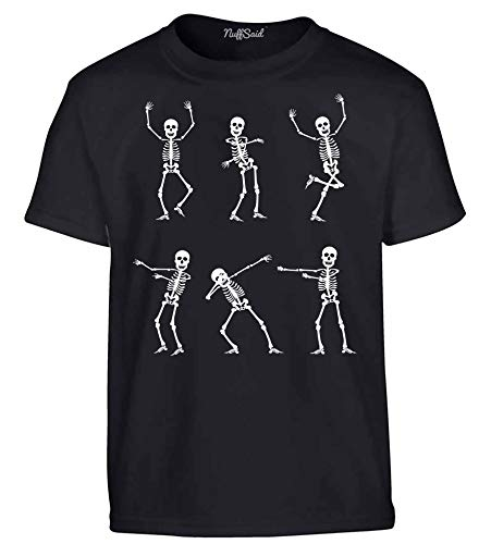 NuffSaid Youth Skeleton Emotes of Halloween Cute Spooky T-Shirt - Kids Graphic Jack Skull and Bones Tee (YXL: 18-20, ()