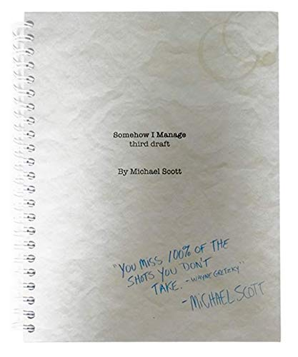 """The Office Notebook,""""SOMEHOW I MANAGE"""", Spiral Notebook"""