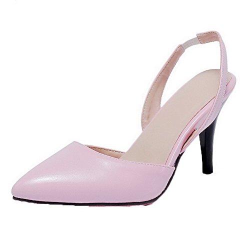 Tacón Puntera Sólido Rosa Medio en Punta AalarDom Pu vestir Sandalias de Mujer 7OwxI