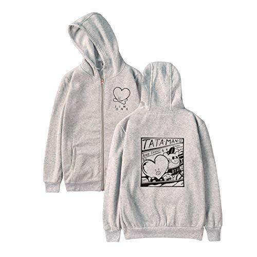 APHT Unisex Kpop BTS BT21 Hoodies Sweatshirt Outwear for Army Jin Suga J-Hope RM Jimin V Jung Kook Crop Top Cartoon Printed Pullovers CHIMMY Cooky KOYA MANG RJ SHOOKY TATA