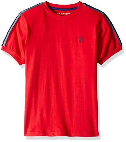 U.S. Polo Assn. Boys' Toddler Classic Crew Neck Jersey T-Shirt, Engine Red, 4T