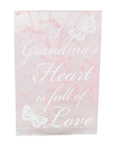 Greenbrier A Grandma's Heart Is Full Of Love Decorative Glass Candleholder Glass Love Heart Tealight Holder