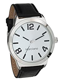 Marciano Men's | Casual Black Watch With PU-Leather Band | MA1025