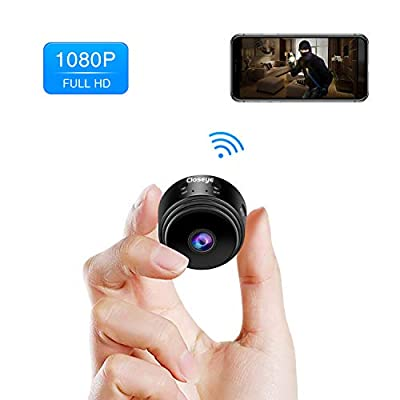 Mini Spy Camera, Closeye Full HD 1080P Wireless WiFi Spy Cam/Small Indoor Home Security Camera/Nanny Camera with Night Vision and Motion Detection by Closeye