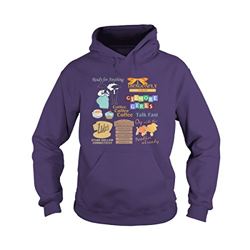 allteeforyou Unisex Gilmore Girls Hoodie (M, Purple) for sale  Delivered anywhere in Canada