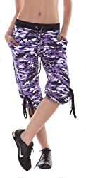 Margarita Purple Camo Capri Pants