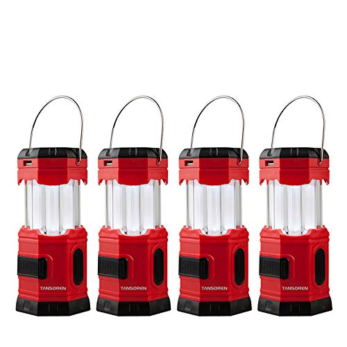 TANSOREN 4 Pack Portable LED Camping Lantern