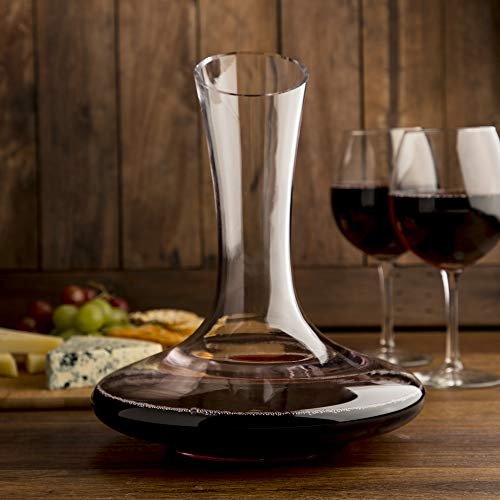 Beautiful, Crystal Wine Decanter Set, Hand Blown, 60 fluid oz - Wine Aerating Decanters with Elegant  Black and Gold Velvet Sleeve  - Drip-Free, Lead-Free, BPA-Free - Table Aerator Carafe by The Urbane Apothecary (Image #8)