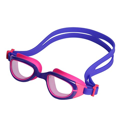 HiCool Anti-Fog Swim Goggle for Kids and Early Teens (Purple/Red) Purple Kids Goggles