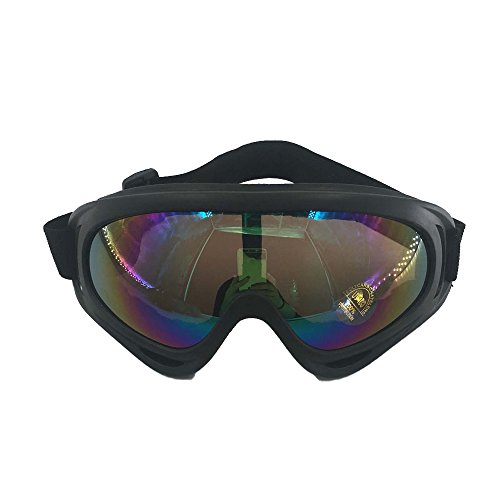 Ski Army Tactical Military Goggles-Outdoor Protective Windproof UV400 Glasses-Sports Snowmobile Bicycle Motorcycle Safety Eyewear(Colorful)