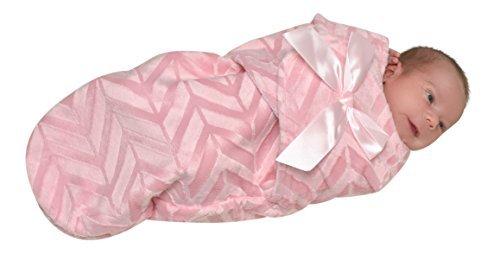 Swuddles Bundle Bean - Swaddle Baby Blanket - Pink with Lines [並行輸入品]   B077N42TCD