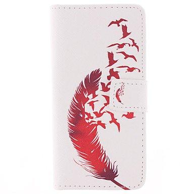 Wkae motif de cuir rouge étui en cuir PU complet du corps avec protecteur d'écran et stylet pour iPhone 6 / 6s en plus Wkae Case Cover