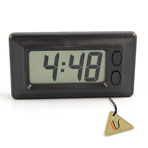 Digital LCD Car Clock with Calendar Display (Dashboard Digital Clock)
