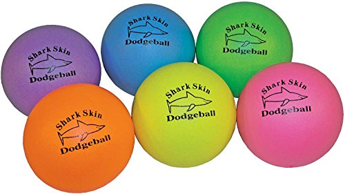Neon Shark Skin Dodgeball Set of 6 by Great Lakes Sports