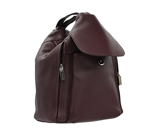 Visconti Navy 18357 18357 Leather Style Backpack Backpack Leather Style Visconti Plum wgA7xIqx