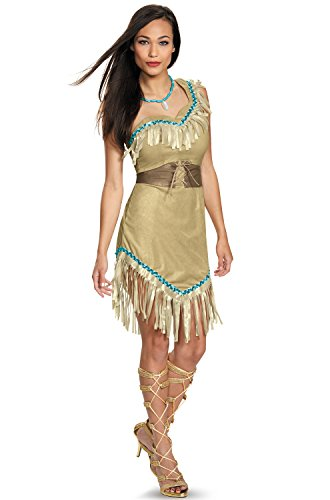 Halloween Costumes Pocahontas And John Smith (Disney Disguise Women's Pocahontas Deluxe Adult Costume, Multi,)