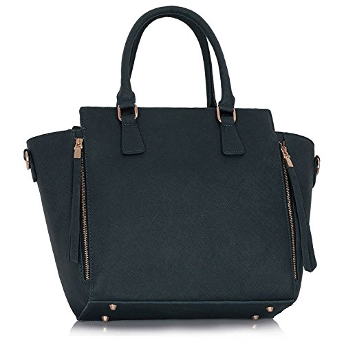 Women's Nice 314 Bags B Handbags 502 Zipper 314A LeahWard Tote Shoulder Navy Great UtqwwdxC