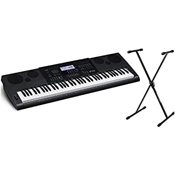 Casio WK6600 76 Note Portable Keyboard w/Built-In Speakers, Power Supply, and Keyboard Stand
