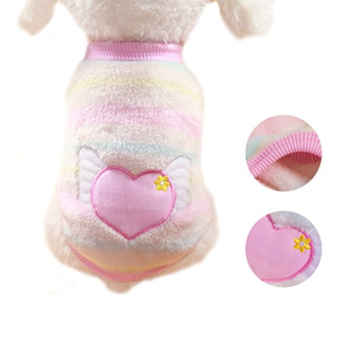 Dog Coat Pet Jacket Warm Pet Clothing for Winter Puppy Shirt for Small Dogs Pet Clothes Puppy Clothes Cat Outfit 3D Stick (M)