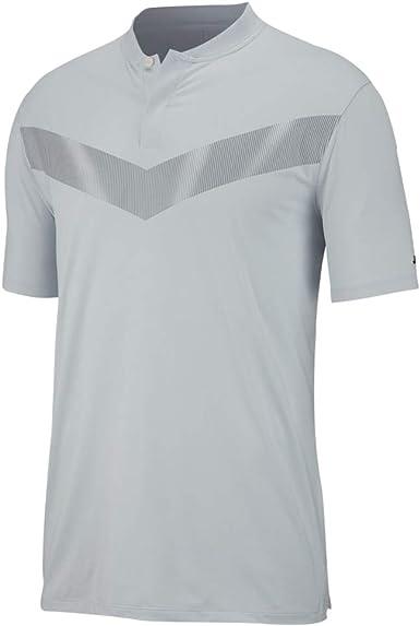 Permuta parilla diámetro  Amazon.com : Nike Dri Fit Tiger Woods Vapor Golf Polo 2019 Pure  Platinum/Black Medium : Clothing