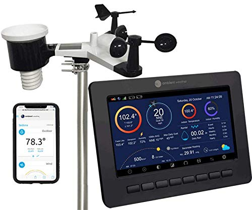 Ambient Weather WS-2000 Smart Weather Station with WiFi Remote Monitoring and Alerts (Best Home Weather Station Wifi)