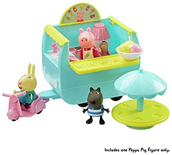 New Peppa Pig Ice Cream Van Playset With Accessories