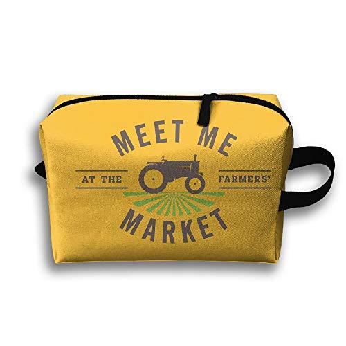 Farmers Market Cosmetic Bags Makeup Organizer Bag Pouch Zipper Purse Handbag Clutch Bag