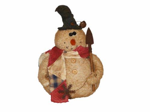 Papier Mache Bell (Craft Outlet Stanley Primitive Snowman Figurine, 11-Inch)