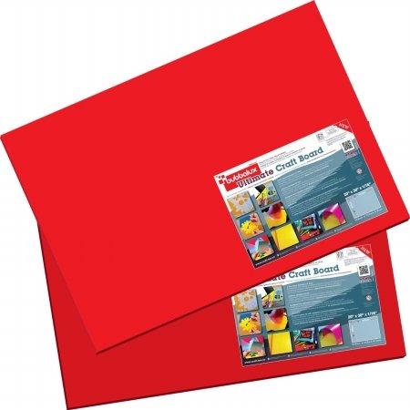 Floortex FBBU2030RD2 Craftex 20 x 30 in. Heart Red Bubbalux Ultimate Craft Board44; Pack of 2 by Floortex