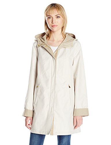 Jones New York Women's Rain Topper, Oyster, L